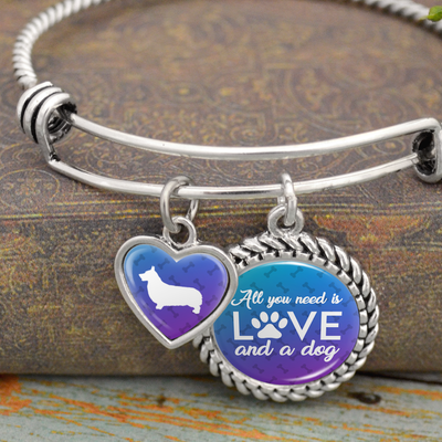 All You Need Is Love And A Dog Corgi Charm Bracelet