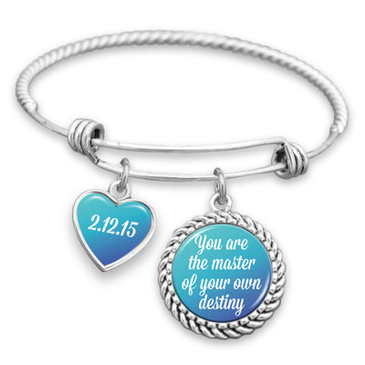 Customizable You Are The Master Of Your Own Destiny Charm Bracelet