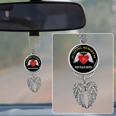 Customizable In Loving Memory Rearview Mirror Charm