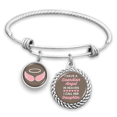 Angel In Heaven Daughter Charm Bracelet