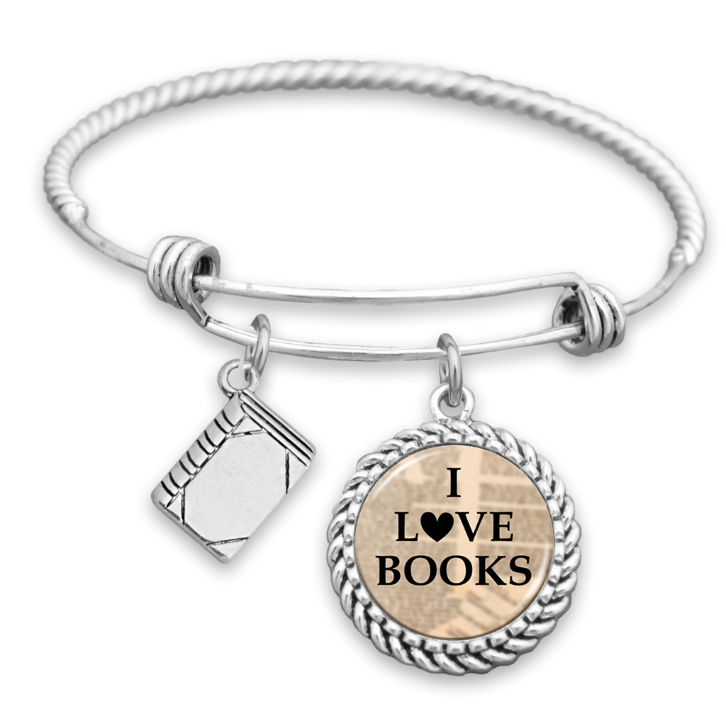 I Love Books Charm Bracelet
