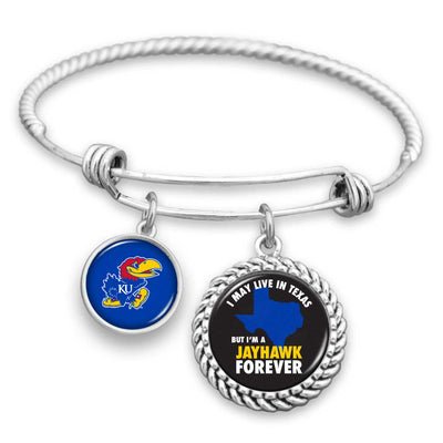Kansas Jayhawks Out Of State Charm Bracelet