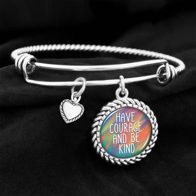 Have Courage And Be Kind Charm Bracelet