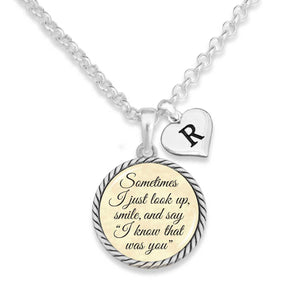 I Know That Was You Personalized Initial Charm Necklace