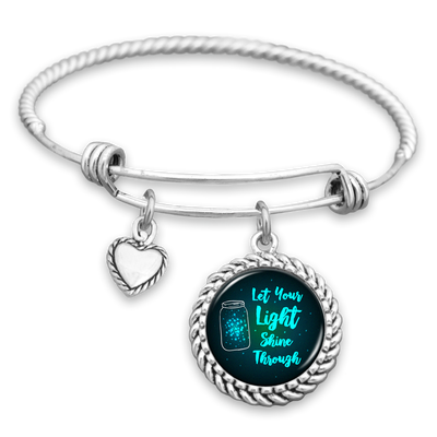 Let Your Light Shine Through Charm Bracelet