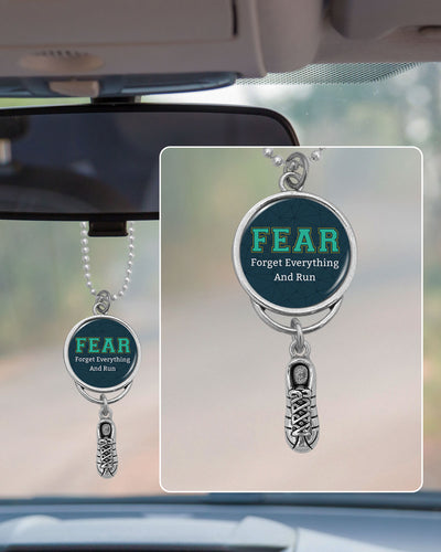 Fear: Forget Everything And Run Rearview Mirror Charm
