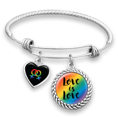 Female Symbols Love Is Love Charm Bracelet