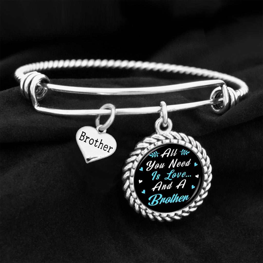 All You Need Is Love And A Brother Charm Bracelet