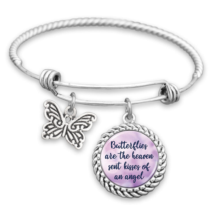 Butterflies Are The Heaven Sent Kisses Of An Angel Charm Bracelet
