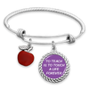 To Teach Is To Touch A Life Forever Charm Bracelet