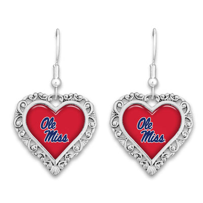 Ole Miss Rebels Official Lace Trim Earrings