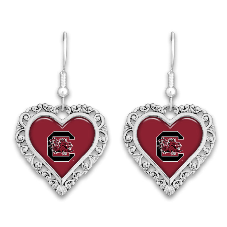 South Carolina Gamecocks Official Lace Trim Earrings