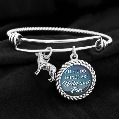 All Good Things Are Wild And Free Charm Bracelet