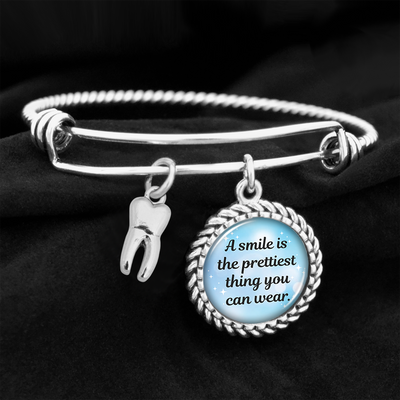 A Smile Is The Prettiest Thing You Can Wear Charm Bracelet