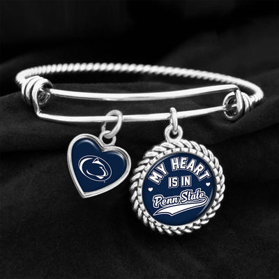 My Heart Is In Penn State Charm Bracelet