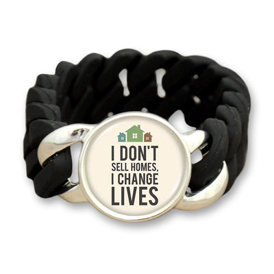 Don't Sell Homes Change Lives Colored Silicone Stretch Bracelet