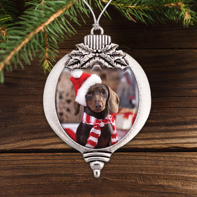 Christmas Doxie Bulb Ornament