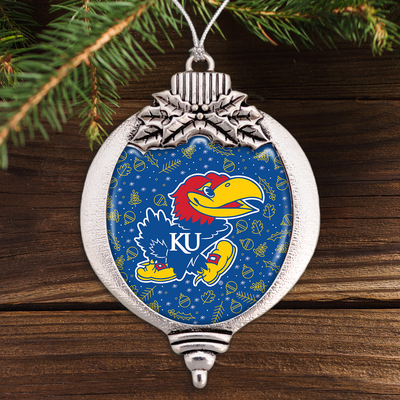 Kansas Jayhawks Holiday Bulb Ornament