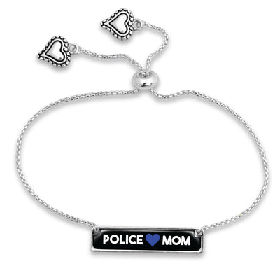 Police Mom Adjustable Rectangle Bracelet