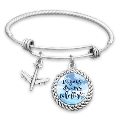 Let Your Dreams Take Flight - Airplane Charm Bracelet