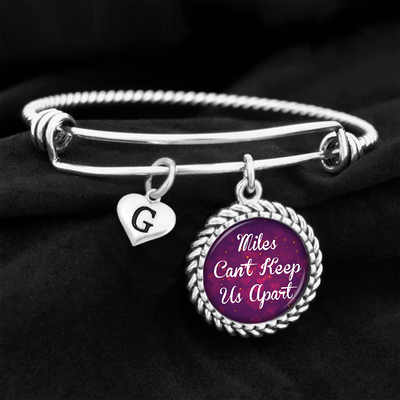Customizable Miles Can't Keep Us Apart Charm Bracelet