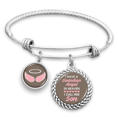 Angel In Heaven Son Charm Bracelet