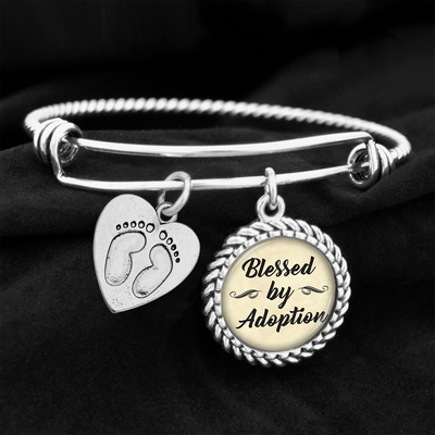 Blessed By Adoption Charm Bracelet