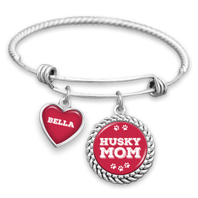 Husky Mom Customizable Charm Bracelet