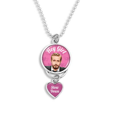 Hey Girl, Slow Down Rearview Mirror Charm