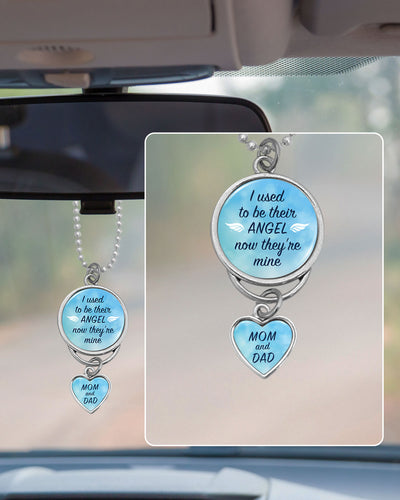 Used To Be Their Angel Mom & Dad Rearview Mirror Charm