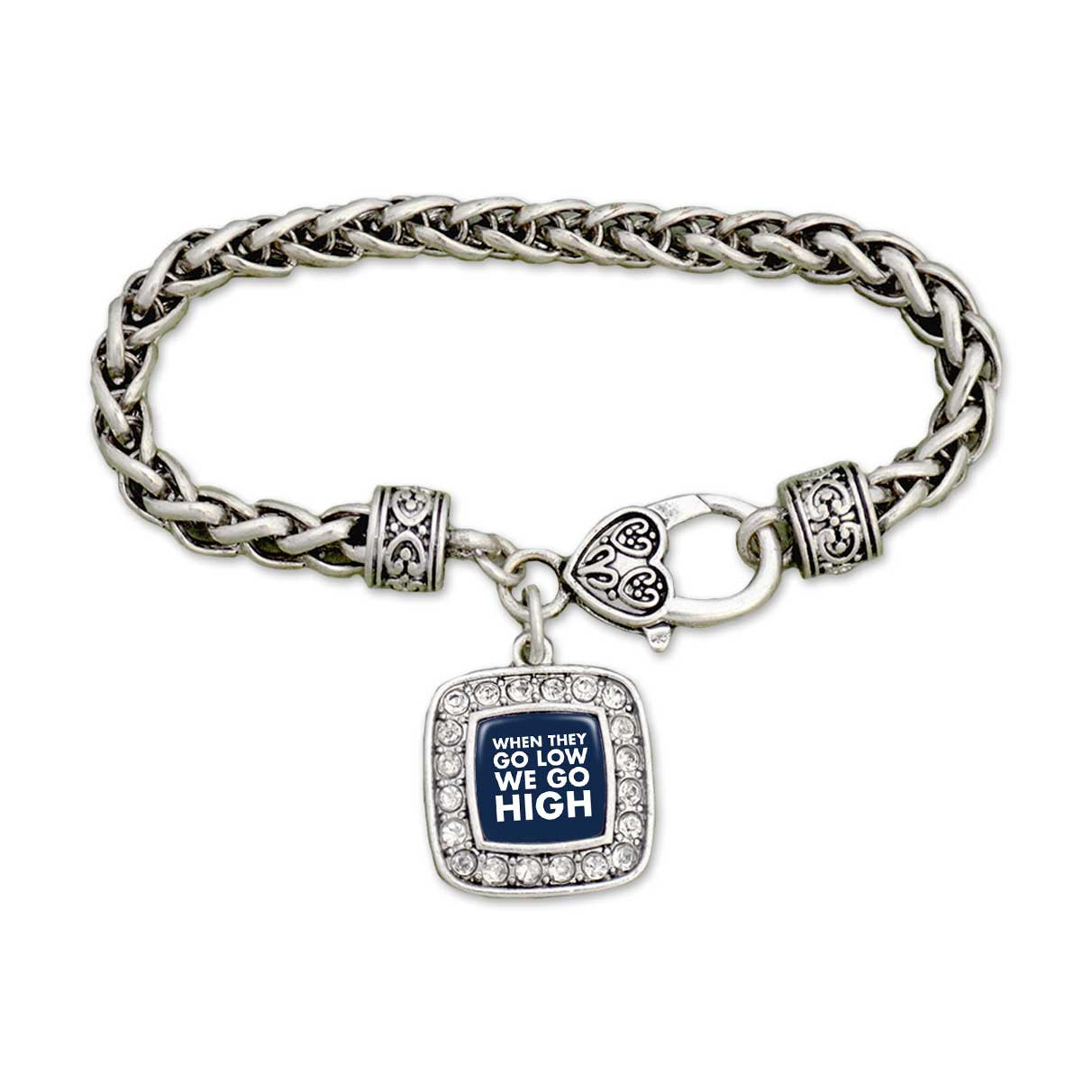 """They Go Low, We Go High"" Clamp Bracelet"