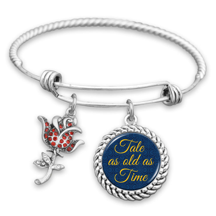 Tale As Old As Time - Rose Charm Bracelet
