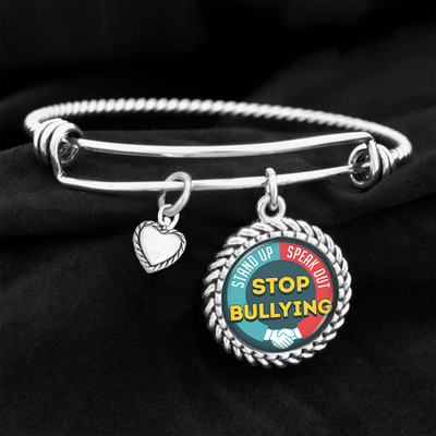 Stand Up, Speak Out, Stop Bullying Charm Bracelet