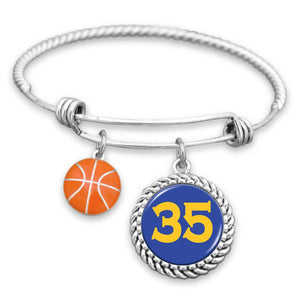 Golden State Basketball Custom Jersey Charm Bracelet