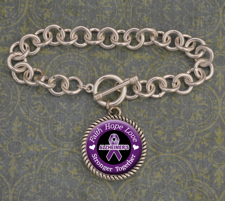 Alzheimer's Awareness Stronger Together Bracelet