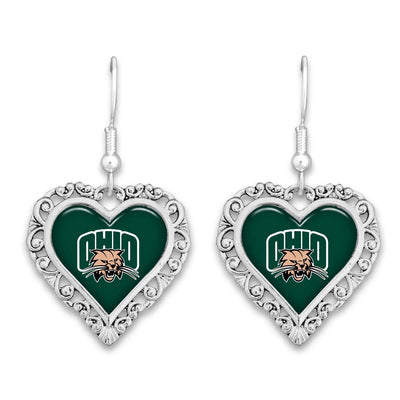 Ohio Bobcats Official Lace Trim Earrings