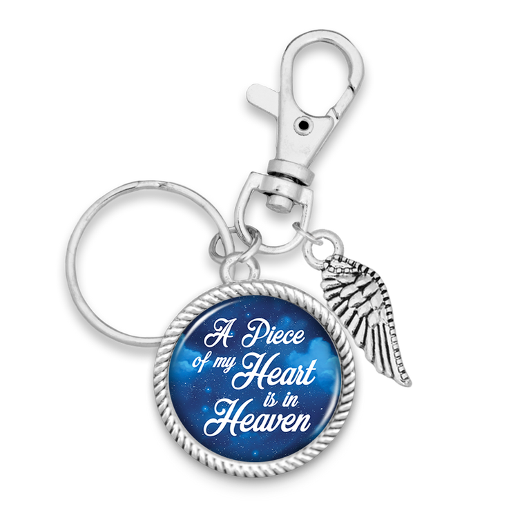 Piece Of My Heart Starry Sky Wing Charm Key Chain