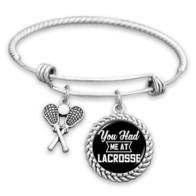 You Had Me At Lacrosse Charm Bracelet