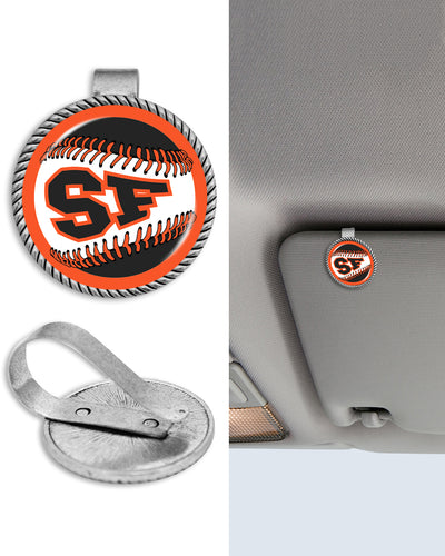 San Francisco Baseball Circle Auto Visor Clip