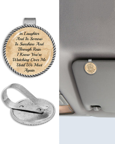 Watching Over Me Circle Auto Visor Clip