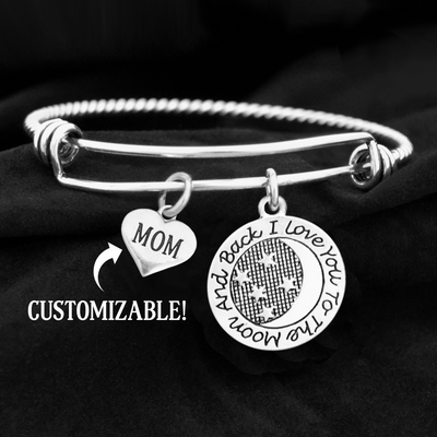 Family Member To The Moon And Back Charm Bracelet