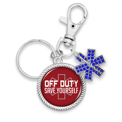 Off Duty Save Yourself Key Chain