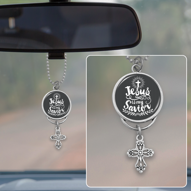 Jesus Is My Savior Rearview Mirror Charm