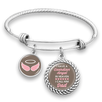 Angel In Heaven Dad Charm Bracelet