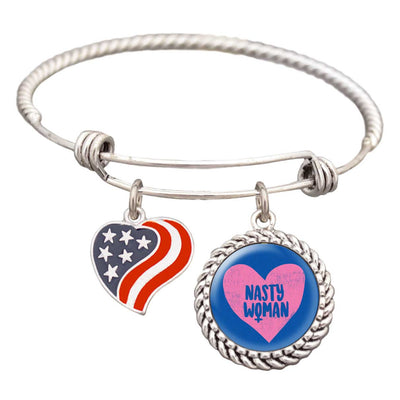 Nasty Woman Heart Bracelet