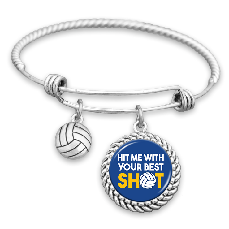 Hit Me With Your Best Shot Volleyball Charm Bracelet