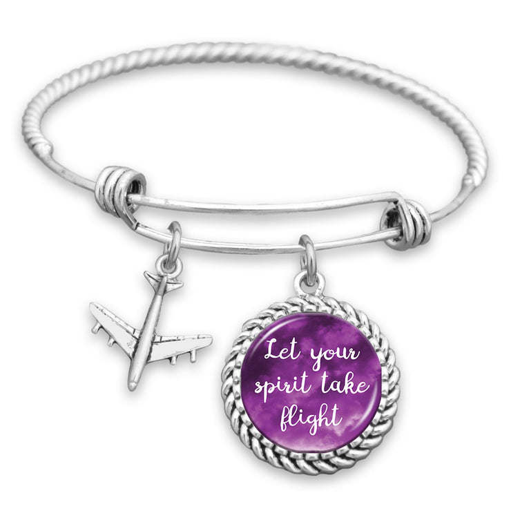 Let Your Spirit Take Flight Airplane Charm Bracelet