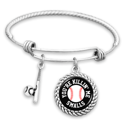 You're Killin' Me Smalls Baseball Charm Bracelet