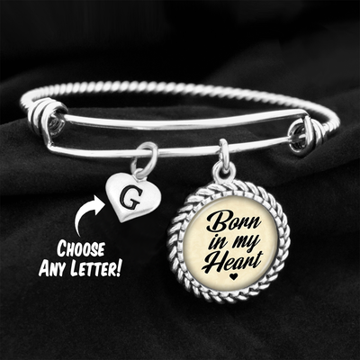 Customizable Born In My Heart Charm Bracelet