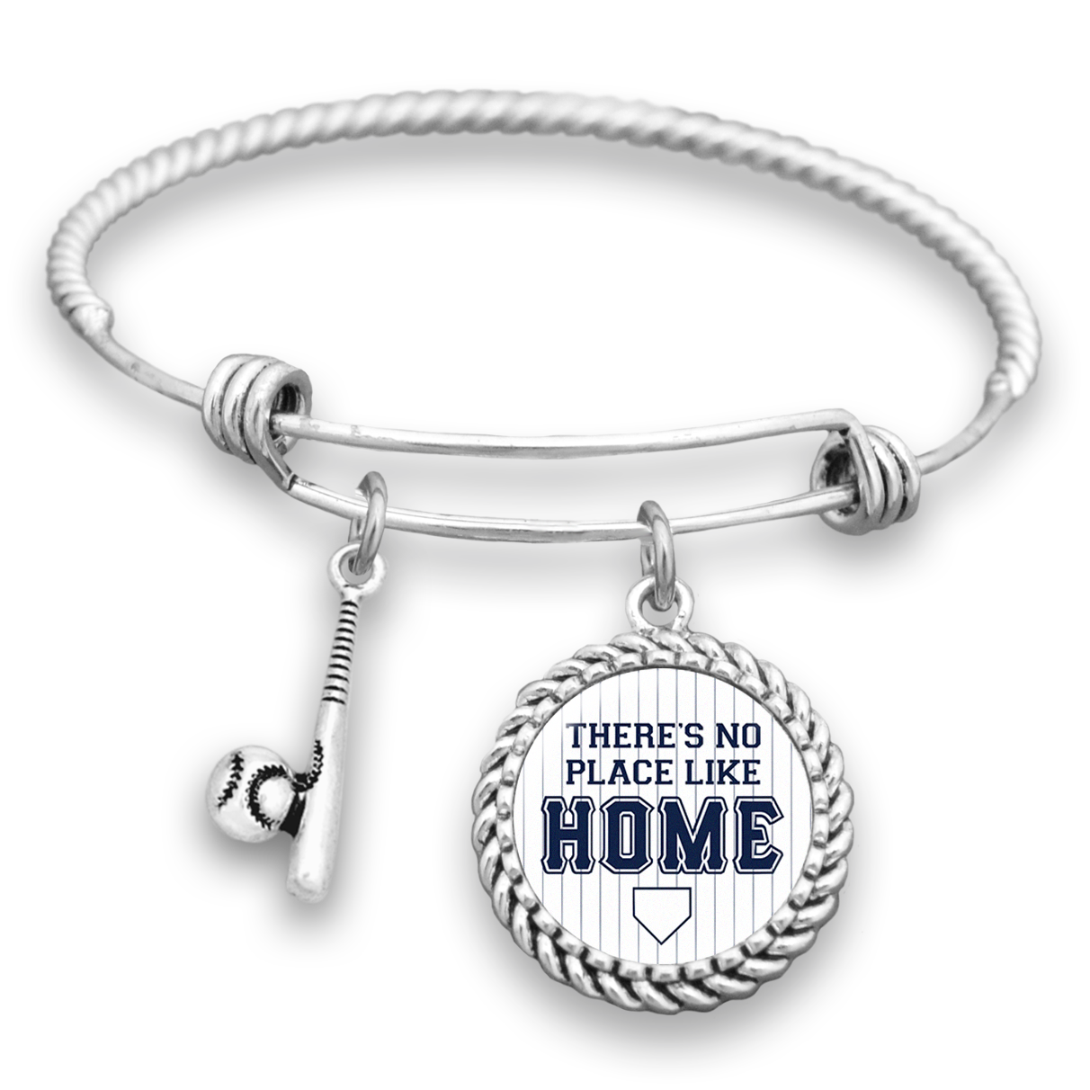 Baseball Charm Bracelet: Yankees There's No Place Like Home Baseball Charm Bracelet
